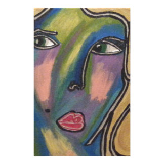 ABSTRACT FACE STATIONERY