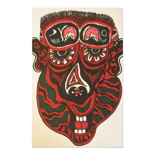 Abstract Face Stationery Paper