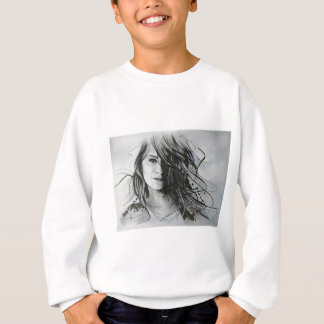 Abstract face sweatshirt