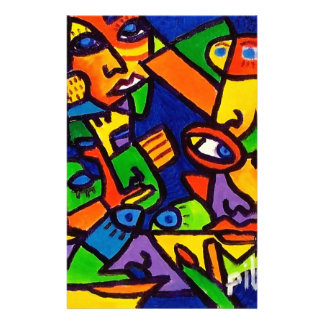 Abstract Faces 4 by Piliero Customized Stationery
