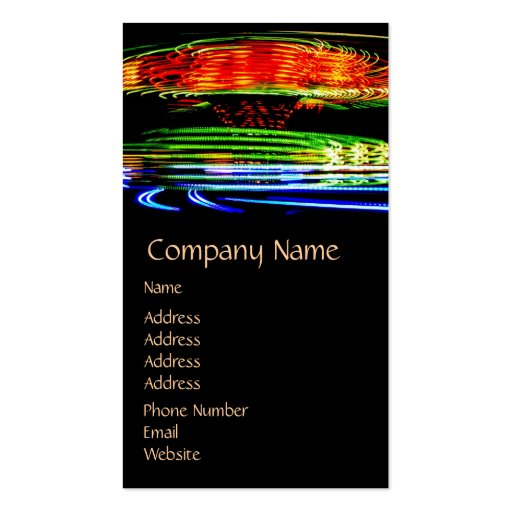 Abstract Fairground Light Painting Business Cards