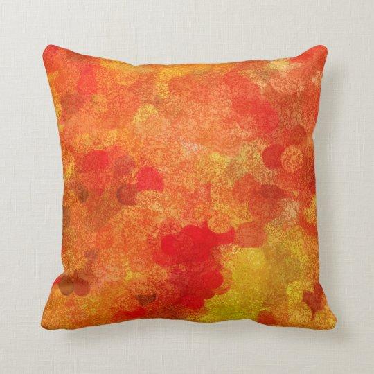 Abstract Fall Autumn Season Colours Cushion