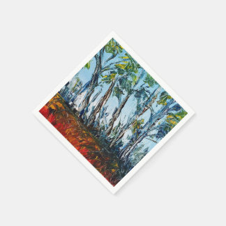 Abstract Fall cocktail napkins Disposable Serviette