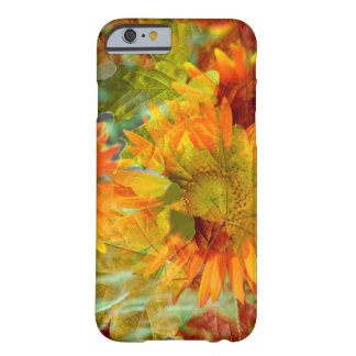 Abstract Fall Color Flowers Barely There iPhone 6 Case