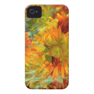 Abstract Fall Color Flowers iPhone 4 Case-Mate Cases