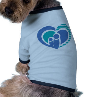 Abstract family love dog shirt