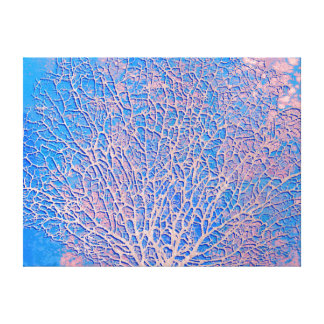 Abstract fan coral canvas print