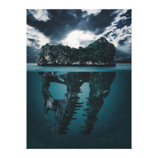 Abstract Fantasy Artistic Island Canvas Print