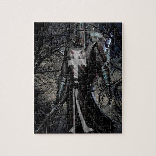 Abstract Fantasy Black Knight Plague Jigsaw Puzzle