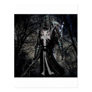 Abstract Fantasy Black Knight Plague Postcard