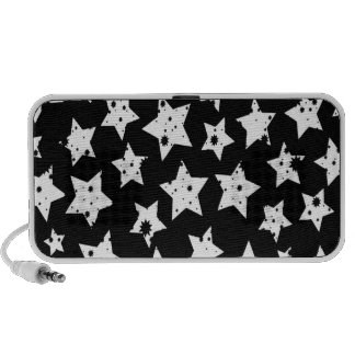 Abstract Fantasy Black Starry Stars Mp3 Speakers