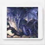 Abstract Fantasy Dragon Girl Flirt Mousepads