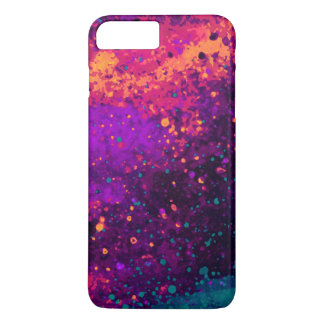 Abstract Fantasy Galaxy Sky Paint Splatter Art iPhone 8 Plus/7 Plus Case