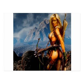 Abstract Fantasy Innocent Head Hunter Postcard