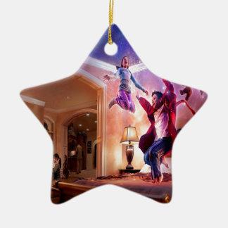 Abstract Fantasy Peter Pan Celebration Ceramic Star Decoration