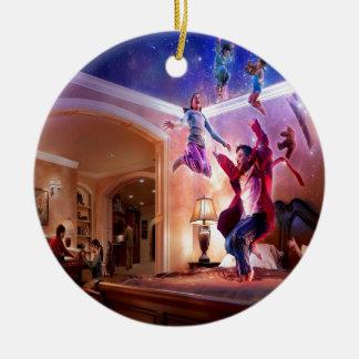 Abstract Fantasy Peter Pan Celebration Round Ceramic Decoration