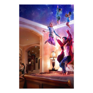 Abstract Fantasy Peter Pan Celebration Stationery Design
