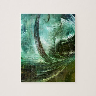 Abstract Fantasy Pirates Nightmare Treasure Jigsaw Puzzle