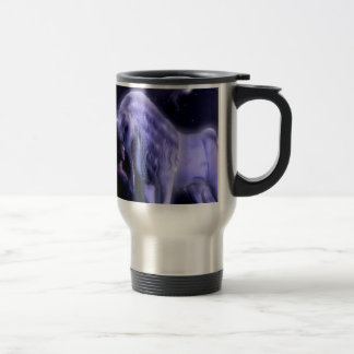 Abstract Fantasy Puple Fairy Unicorn Travel Mug