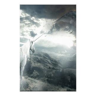Abstract Fantasy Unicorns Light Vs Dark Customized Stationery