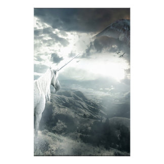 Abstract Fantasy Unicorns Light Vs Dark Stationery