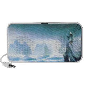 Abstract Fantasy Water God Atlantis iPhone Speakers