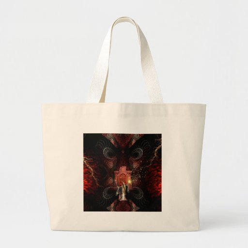 Abstract Fantasy Wizard Unleashed Canvas Bags