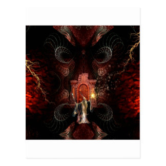 Abstract Fantasy Wizard Unleashed Post Cards