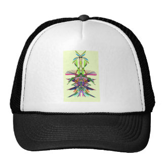 abstract feathered warrior mesh hats