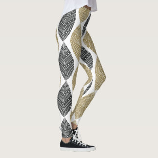 Abstract Feathers Pattern leggings