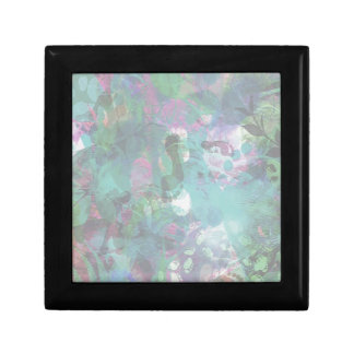 Abstract Feet in Blue Small Square Gift Box