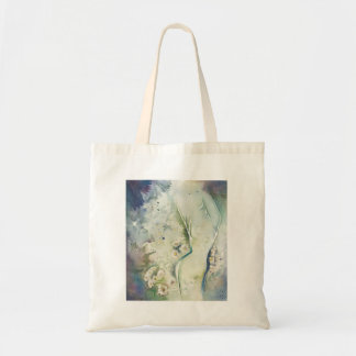 Abstract Feminine Floral in Green Tote Bag