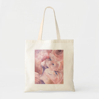 Abstract Feminine Floral in Pink Tote Bag