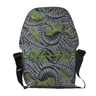 Abstract Fern Messenger Bag