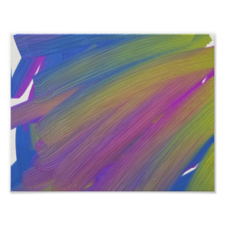 Abstract fine art poster, oil poster