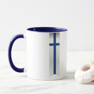 Abstract Finland Flag, Finnish Colours Mug