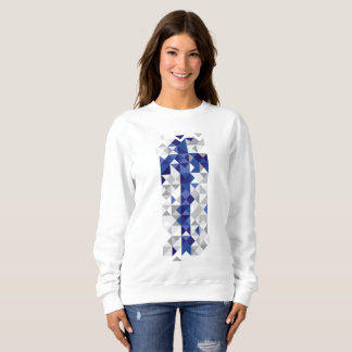 Abstract Finland Flag, Finnish Colours Sweatshirt