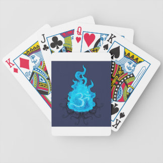 Abstract Fire Blue Flame Bicycle Playing Cards
