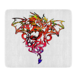 Abstract Fire Breathing Tribal Dragon Cutting Board