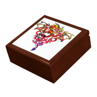 Abstract Fire Breathing Tribal Dragon Gift Box