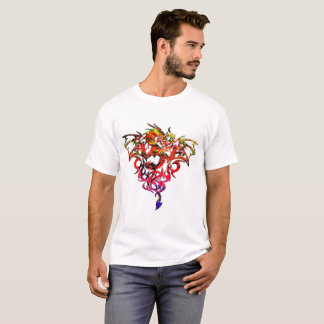 Abstract Fire Breathing Tribal Dragon T-Shirt