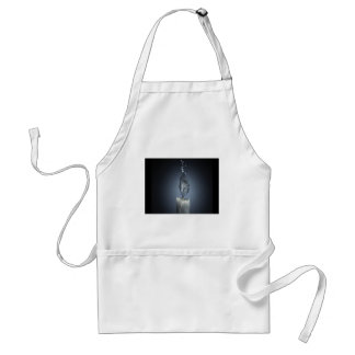 abstract fire candle water splash standard apron