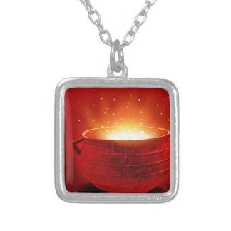 Abstract Fire Hot Caldren Pendant