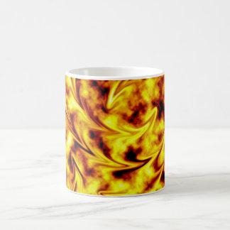 Abstract fire mug