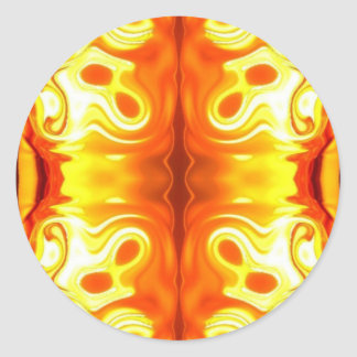 Abstract Fire Round Sticker
