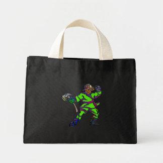 Abstract Firemen Mini Tote Bag