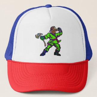 Abstract Firemen Trucker Hat