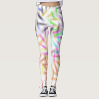 Abstract Fireworks Leggings
