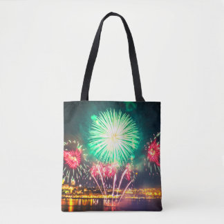 Abstract Fireworks Tote Bag