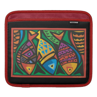 Abstract Fish Art Design iPad Sleeve